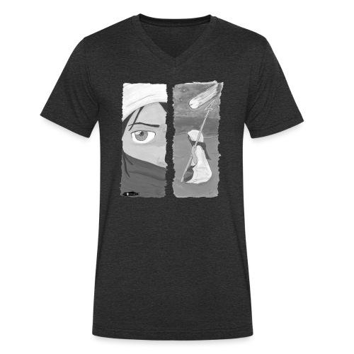 2panels #1 Ankunft (schwarz-weiß) - Männer Bio-T-Shirt mit V-Ausschnitt von Stanley & Stella
