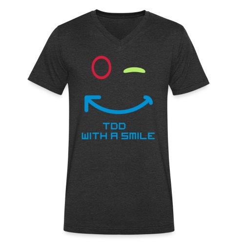 TDD with a smile - Mannen bio T-shirt met V-hals van Stanley & Stella