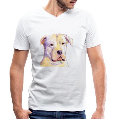 dogo argentino - Økologisk Stanley & Stella T-shirt med V-udskæring til herrer
