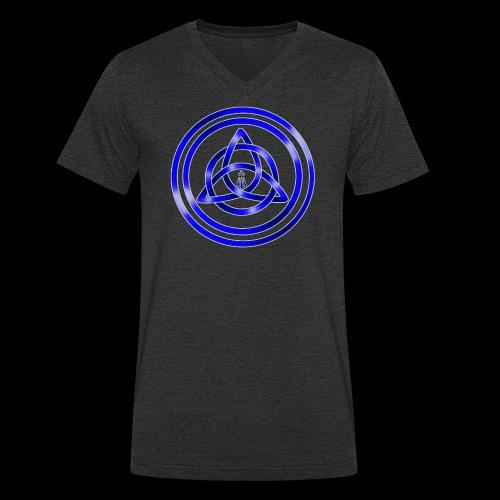 Awen Triqueta - Men's Organic V-Neck T-Shirt by Stanley & Stella