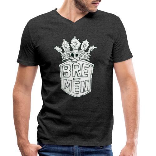 Bre-Men Abenteuer black & white - Männer Bio-T-Shirt mit V-Ausschnitt von Stanley & Stella