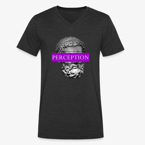 TETE GRECQ PURPLE - PERCEPTION CLOTHING - T-shirt bio col V Stanley & Stella Homme