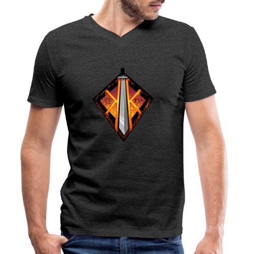 Krazey Kuchiki Brand Logo - Men's Organic V-Neck T-Shirt by Stanley & Stella
