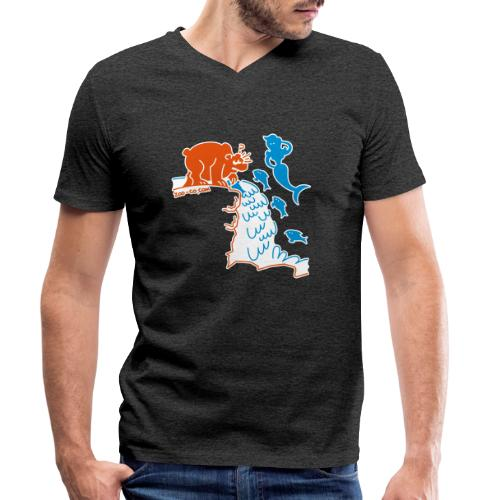 Surprised Bear - Men's Organic V-Neck T-Shirt by Stanley & Stella
