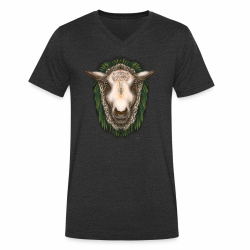Zed The Sheep by Jon Ball - Men's Organic V-Neck T-Shirt by Stanley & Stella