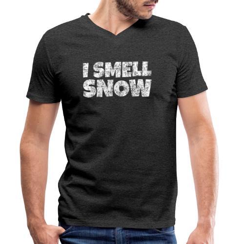 I Smell Snow Schnee, Weihnachten & Wintersport - Männer Bio-T-Shirt mit V-Ausschnitt von Stanley & Stella