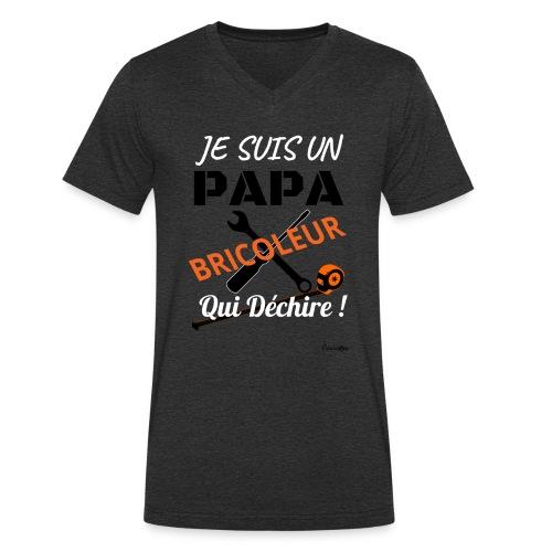 Un papa bricoleur qui déchire ! - T-shirt bio col V Stanley & Stella Homme