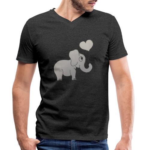 LackyElephant - Männer Bio-T-Shirt mit V-Ausschnitt von Stanley & Stella