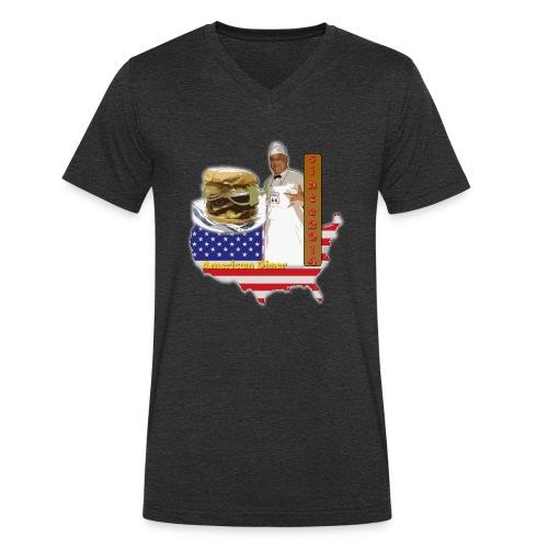la 66 - Camiseta ecológica hombre con cuello de pico de Stanley & Stella