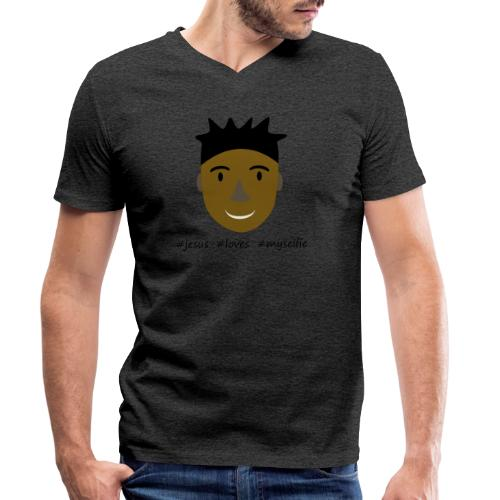 jesus loves myselfie - Männer Bio-T-Shirt mit V-Ausschnitt von Stanley & Stella