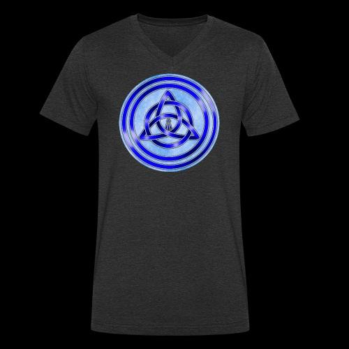 Awen Triqueta Circle - Men's Organic V-Neck T-Shirt by Stanley & Stella