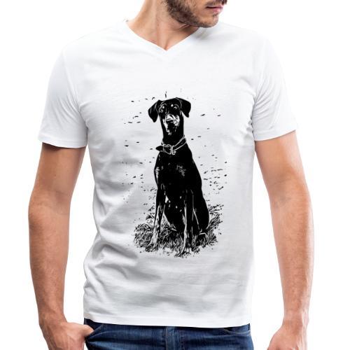 Dobermann Hunde - Männer Bio-T-Shirt mit V-Ausschnitt von Stanley & Stella