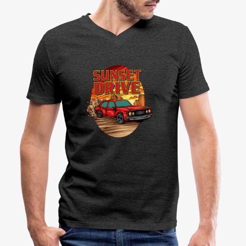Sunset Drive - Männer Bio-T-Shirt mit V-Ausschnitt von Stanley & Stella