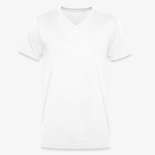 logo plume white - T-shirt bio col V Stanley & Stella Homme