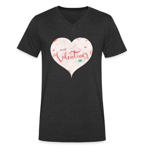 Happy Valentinesday - Männer Bio-T-Shirt mit V-Ausschnitt von Stanley & Stella