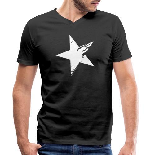 Erfolgshirts Allstars Fame Design - Männer Bio-T-Shirt mit V-Ausschnitt von Stanley & Stella