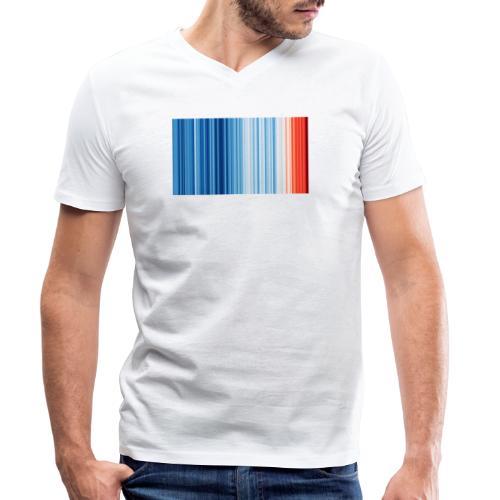 Klimawandel - Warming Stripes - Wärmestreifen - Männer Bio-T-Shirt mit V-Ausschnitt von Stanley & Stella