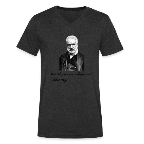 Victor Hugo - citation - T-shirt bio col V Stanley & Stella Homme