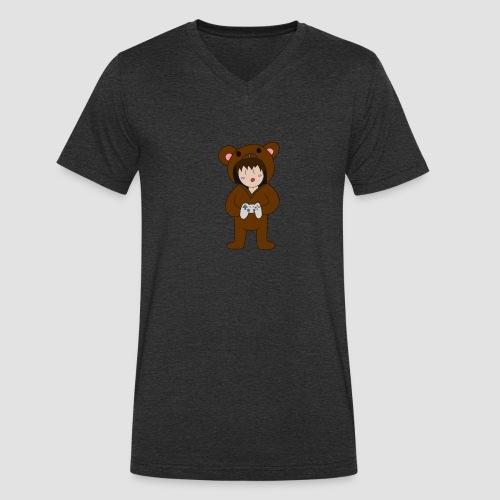 Bear Chibi - Männer Bio-T-Shirt mit V-Ausschnitt von Stanley & Stella