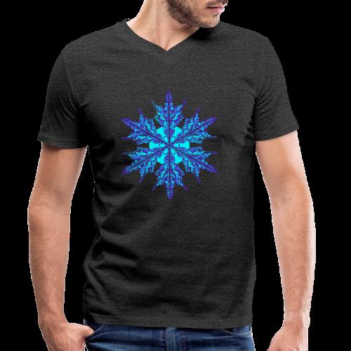Schneeflocke IV - Männer Bio-T-Shirt mit V-Ausschnitt von Stanley & Stella