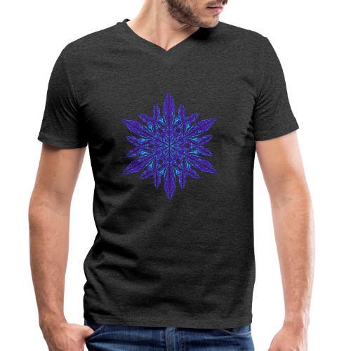 Schneeflocke II - Männer Bio-T-Shirt mit V-Ausschnitt von Stanley & Stella