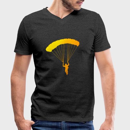 Colorfull Skydiver - Männer Bio-T-Shirt mit V-Ausschnitt von Stanley & Stella