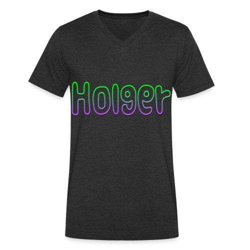 Holger - Økologisk Stanley & Stella T-shirt med V-udskæring til herrer