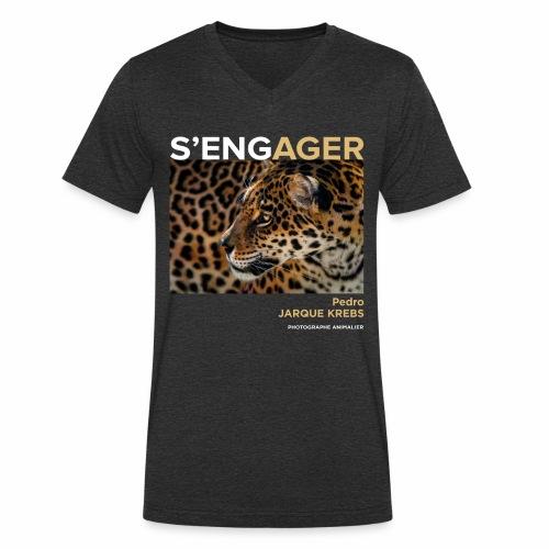 1 Achat = 1 Don à l'association Rainfer - T-shirt bio col V Stanley & Stella Homme
