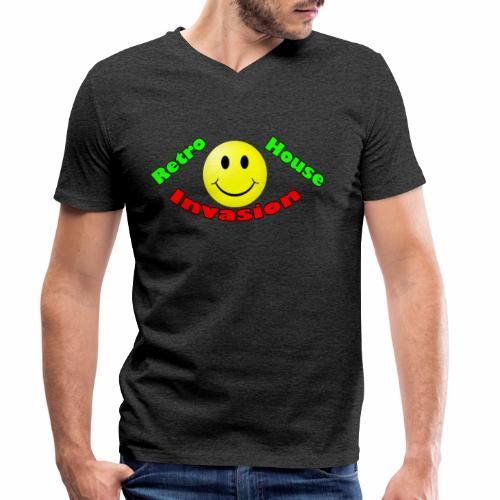 Retro House Invasion - Mannen bio T-shirt met V-hals van Stanley & Stella
