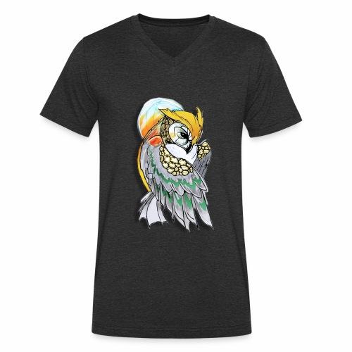 Cosmic owl - Camiseta ecológica hombre con cuello de pico de Stanley & Stella