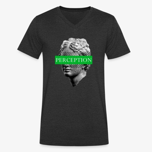 TETE GRECQ GREEN - PERCEPTION CLOTHING - T-shirt bio col V Stanley & Stella Homme