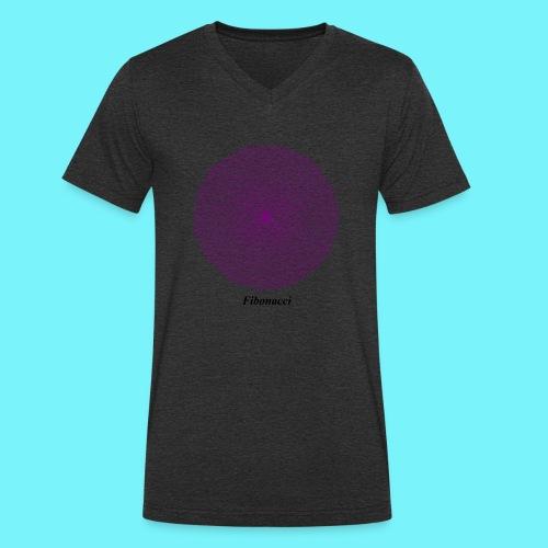 Fibonacci webs in purple - Men's Organic V-Neck T-Shirt by Stanley & Stella