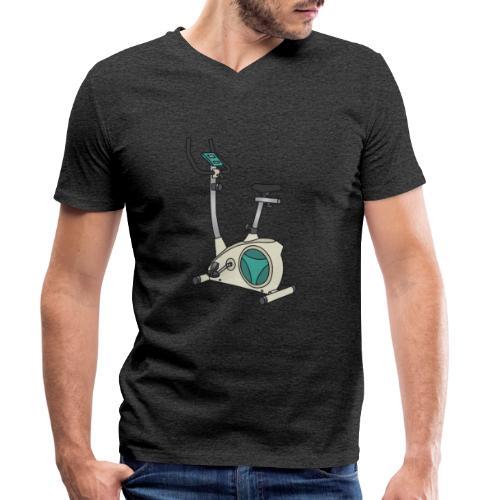 Heimtrainer Trimmdich-Rad - Männer Bio-T-Shirt mit V-Ausschnitt von Stanley & Stella