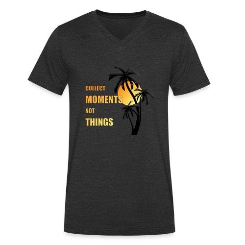 collect moments not things - orange-gelb / schwarz - Männer Bio-T-Shirt mit V-Ausschnitt von Stanley & Stella