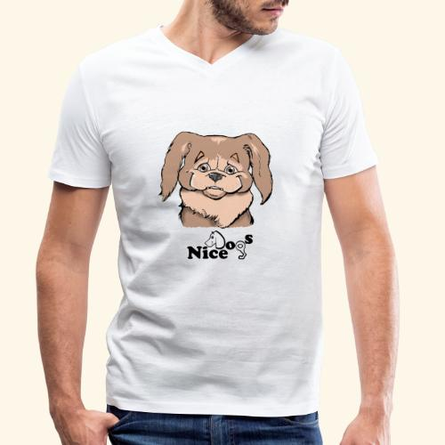 PECHINESE 2 - T-shirt ecologica da uomo con scollo a V di Stanley & Stella