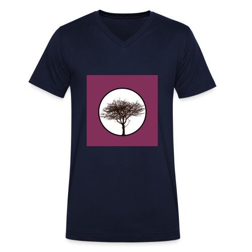 Baum in Kreis - Männer Bio-T-Shirt mit V-Ausschnitt von Stanley & Stella