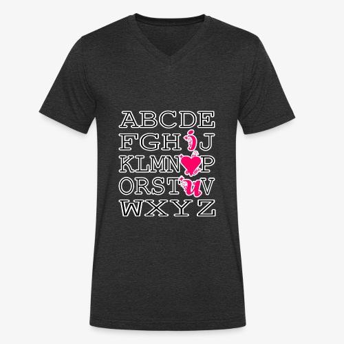 Liebesalphabet - Männer Bio-T-Shirt mit V-Ausschnitt von Stanley & Stella