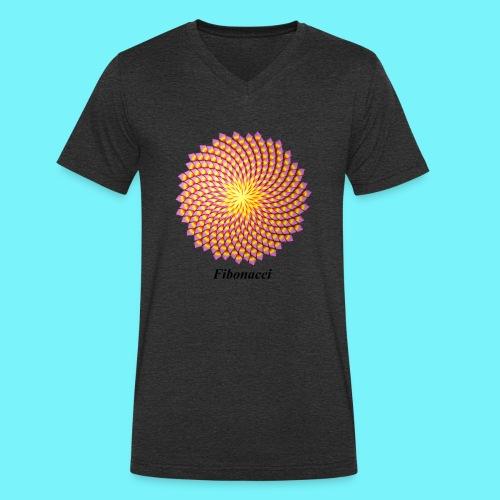Fibonacci flower - Men's Organic V-Neck T-Shirt by Stanley & Stella