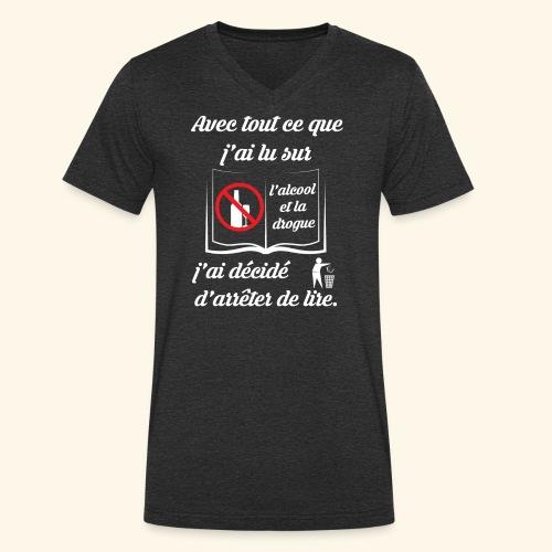 arrêter de lire - T-shirt bio col V Stanley & Stella Homme