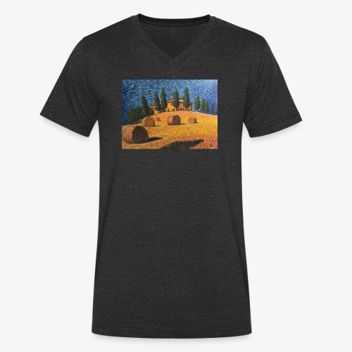 tuscany - Men's Organic V-Neck T-Shirt by Stanley & Stella