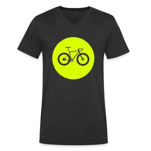 Bycicle Dot - Männer Bio-T-Shirt mit V-Ausschnitt von Stanley & Stella