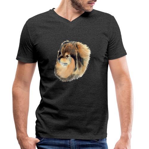 pomeranian 1 - Økologisk Stanley & Stella T-shirt med V-udskæring til herrer