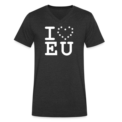 i love EU European Union Brexit - Men's Organic V-Neck T-Shirt by Stanley & Stella