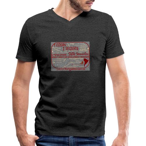 Segeln durch die Brüllenden Vierziger - Männer Bio-T-Shirt mit V-Ausschnitt von Stanley & Stella