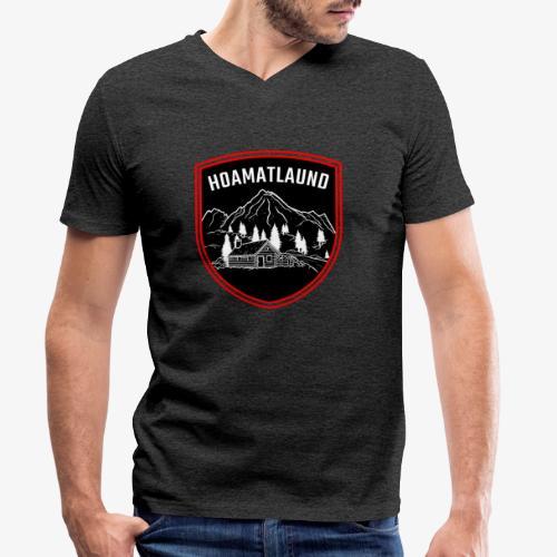 Hoamatlaund logo - Männer Bio-T-Shirt mit V-Ausschnitt von Stanley & Stella