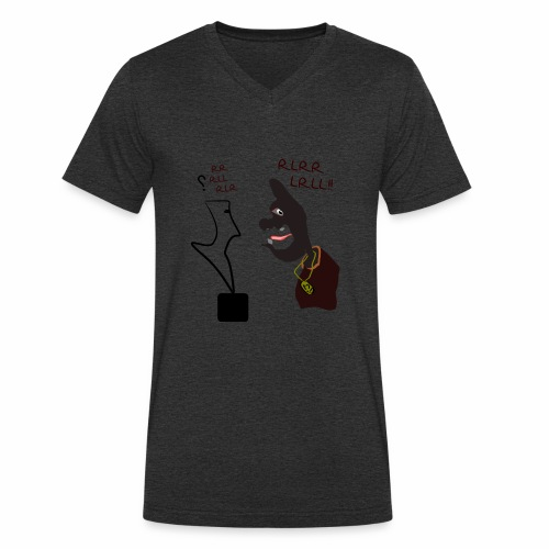Learning drums - Men's Organic V-Neck T-Shirt by Stanley & Stella