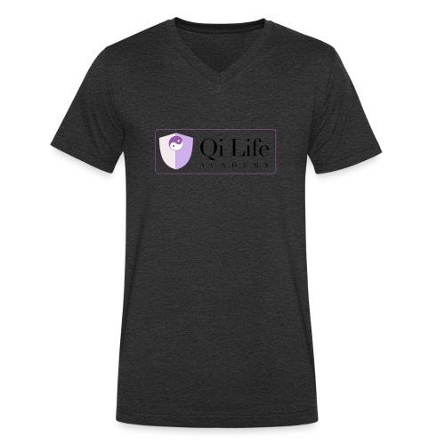 Qi Life Academy Promo Gear - Men's Organic V-Neck T-Shirt by Stanley & Stella