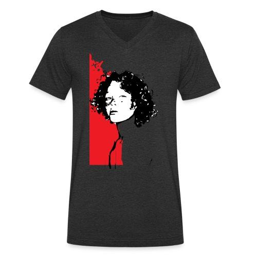 L'enfant rouge représente la terre rouge d'Afrique - T-shirt bio col V Stanley & Stella Homme