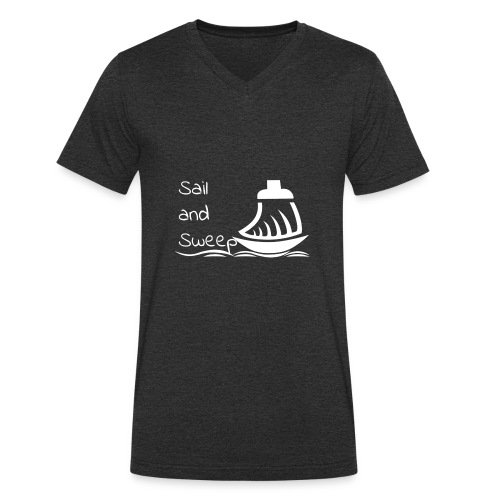 Sail and Sweep White - Men's Organic V-Neck T-Shirt by Stanley & Stella