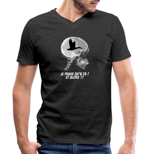 Fou de chasse aux canards ! - T-shirt bio col V Stanley & Stella Homme